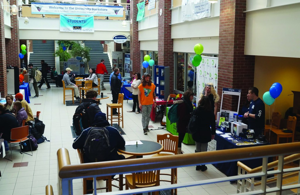 The University of Maine Renters Fair hosts representatives from various apartments including The Grove, Orchard Trails, KC Management, and The Avenue to assist students in finding off campus living.