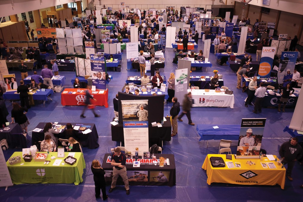 The annual University of Maine Career Fair took place at the recreation center this week with over 150 companies that were present.