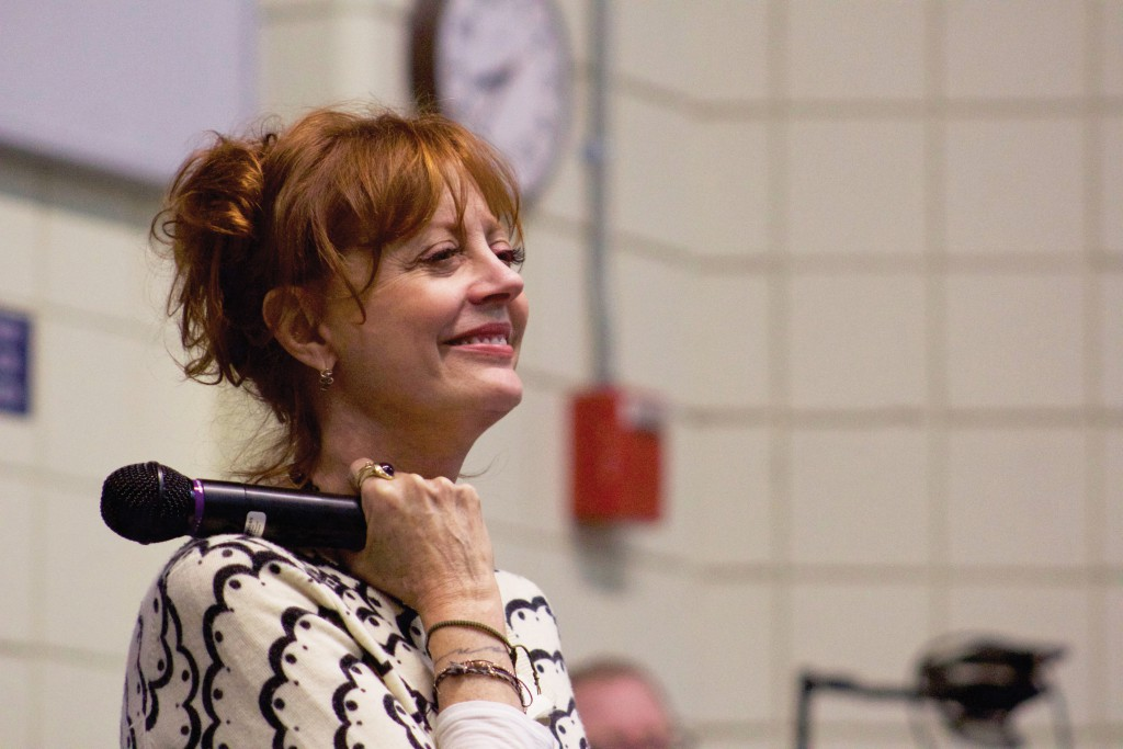 Susan Sarandon appeared on behalf of Bernie Sanders on Feb. 23 at Neville Hall.