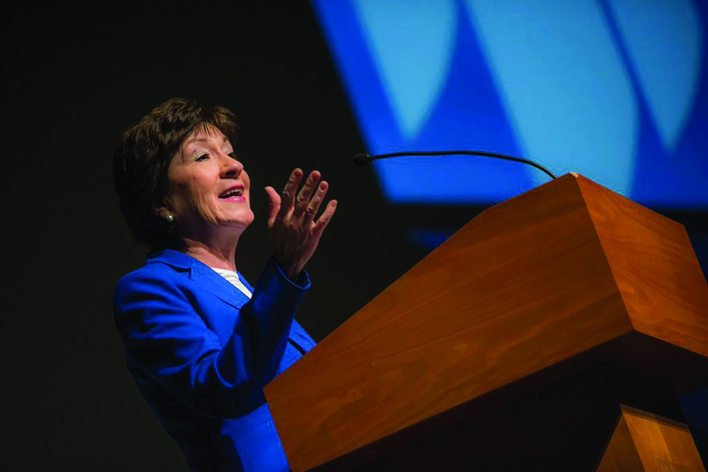 Susan Collins while at the Collins Center for the Arts in 2015.