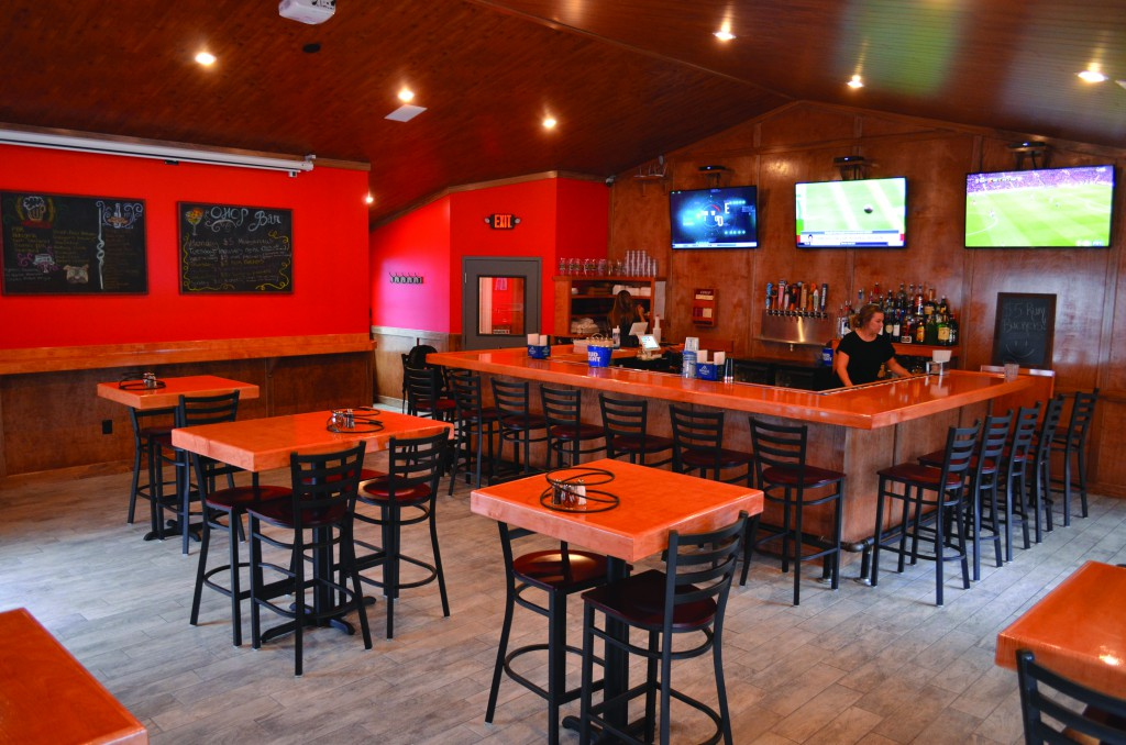 After a summer of renovations, Orono House of Pizza's newest bar opened to the public on Oct. 12. Photo by Ian Ligget, Staff.