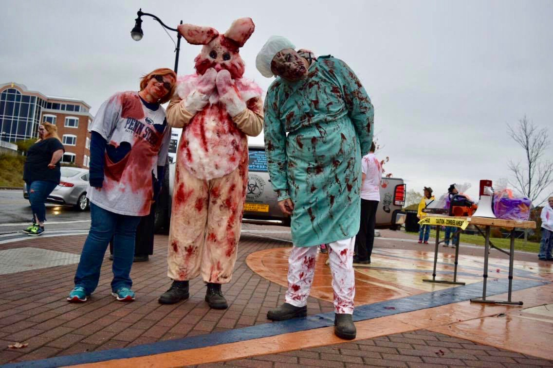 The sixth-annual Bangor Zombie Walk was held in Bangor on Oct. 29. Photo by Robin Pelkey, Staff.