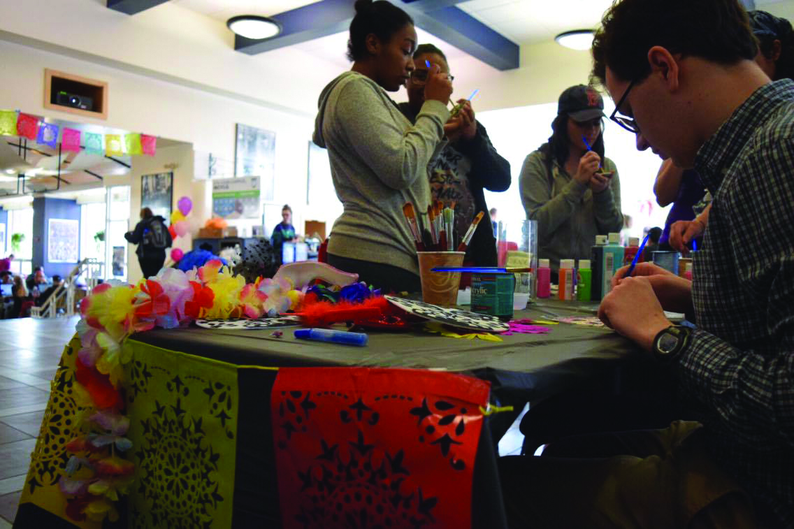 The Latin American Student Association hosted a Day of the Dead celebration in the Memorial Union on Friday, Nov. 4. Photo by Robin Pelkey, Staff.